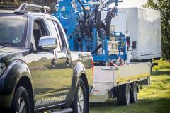 Transport Brunnenbohrgerät
